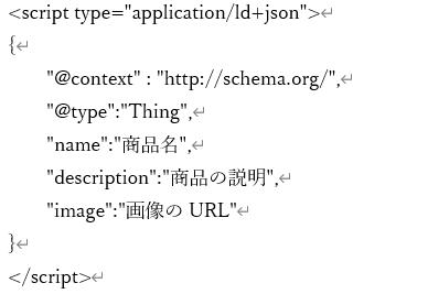 JSON-LDの記述例