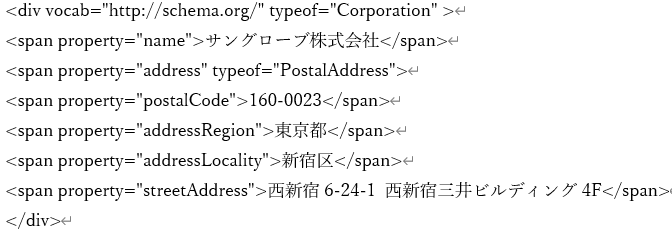 RDFa Liteの記述例